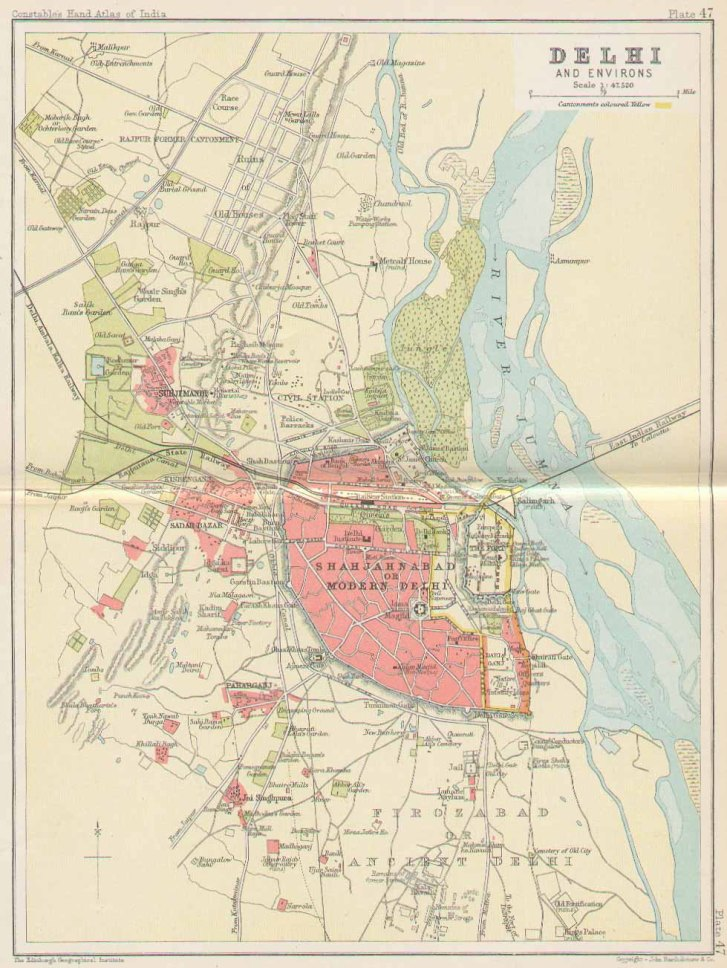 Delhi, 1893, showing Shajahanabad.