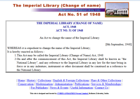 Here's an interesting fact: https://en.wikipedia.org/wiki/National_Library_of_India#Discovery_of_hidden_chamber